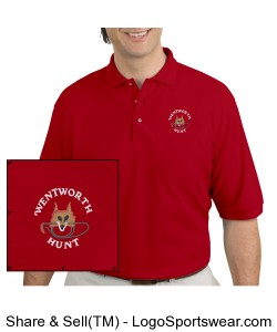 Men's Red Polo Design Zoom
