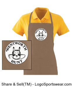 Long Khaki Apron Design Zoom