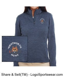 Blue Quarter Zip Design Zoom