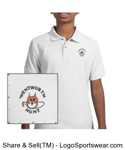 Kids white polo Design Zoom