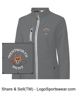 Grey Ladies Soft Shell Jacket Design Zoom