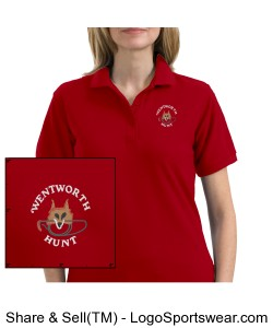 Ladies Red Polo Design Zoom
